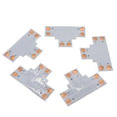 5pcs/lot 2pin 10mm L Shape / T Shape / X Shape PCB Connector  LED Strip Connector DIY accessory