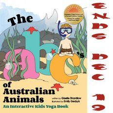 The ABC's of Australian Animals Interactive Kids Yoga Giveaway ends 12/19 #SCRF
