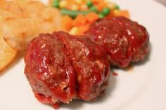 Spooky Bloody Brains -- for halloween-- Basically mini meatloaf! Yum!