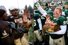 Colorado State Rams Trophy introduced in Wyoming Cowboys Football, Cowboys Vs, Football Is Life, College Football, Mountain West Conference, Football Rivalries, Go Pokes, Colorado State University, Most Played
