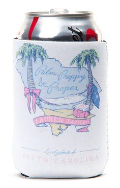 South Carolina Palm Preppy Koozie