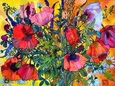 Summer Bouquet - by Sophia Perina-Miller,  ~Watercolor