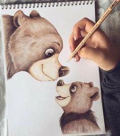 (notitle) - Draw In Dreams - (notitle) - Draw In Dreams - Disney Drawings Sketches, Cute Disney Drawings, Art Drawings Sketches Simple, Pencil Art Drawings, Colorful Drawings, Cartoon Drawings, Animal Drawings, Cool Drawings, Cartoon Illustrations