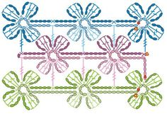 Bufanda a ganchillo-crochet con flores | La Casa del Punto