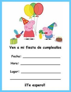 Cualquier día es de fiesta: Mi fiesta con Peppa Pig Peppa Pig Birthday Invitations, Peppa Pig Birthday Cake, Girl 2nd Birthday, Pirate Birthday, Birthday Ideas, Invitacion Peppa Pig, Peppa Pig Pinata, Pig Party, Party Decoration