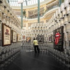Temporary Andy Warhol Museum Made Of 1,500 Aluminum Cans Pops Up - DesignTAXI.com  kinda cool