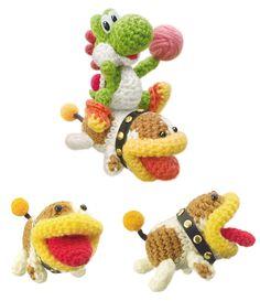 Yoshi and Poochy - Yoshi's Woolly World