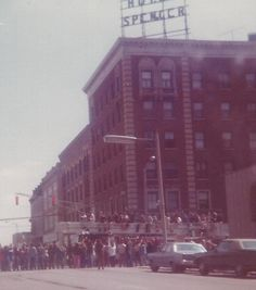 Hotel Spencer circa 1975 downtown Marion Indiana | Grant County Indiana | Marion Indiana. Photo/Alwilla Hall-Roberts, Facebook.