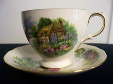 Georgeous Tea Cup & Saucer by Royal Vale - Bone China