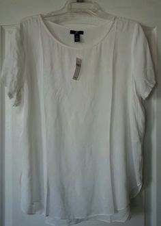 $13.00 + Free Shipping for a LIMITED TIME! NWT Gap size L Ivory Blouse Shirt Top #GAP #Blouse #Career