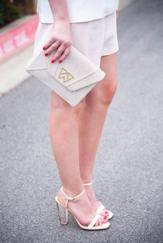 Check out our Cloud Nine Clutch in stone white lizard on The Style Scribe! Lovin' the summer colors!