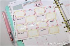 "Shabby Chic #4 ""Halfsies"" Planner Stickers for Erin Condren Life Planner & Happy Planner"