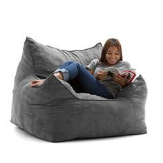 Kings and Queens, your throne has arrived! introducing the Imperial Lounger. Take a seat on this cozy, plush, conformable chair and experience a level of comfort that, until now, had only been available to royalty. Filled with our super soft, long lasting fun foam, it will be your favorite spot... more details available at https://furniture.bestselleroutlets.com/game-recreation-room-furniture/bean-bags/product-review-for-big-joe-imperial-lounger-in-comfort-suede-plus-cement/