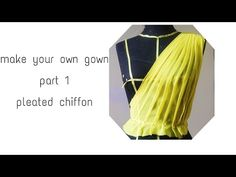 DIY make your own gown part pleated chiffon Make Your Own, Make It Yourself, How To Make, Follow Me On Instagram, All About Fashion, Sewing Tutorials, Diy Clothes, Fashion Dresses, Chiffon