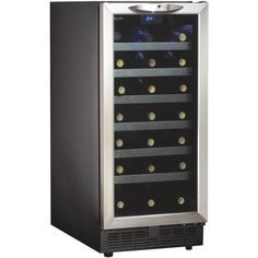 Danby DWC1534BLS 3.7 Cu. Ft. 34-Bottle Silhouette Wine Cooler - Black/Stainless, $499