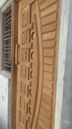 House Main Door Design, Home Door Design, Wooden Front Door Design, Bedroom Door Design, Wooden Front Doors, Door Design Interior, Double Front Entry Doors, Modern Wooden Doors, Window Grill Design