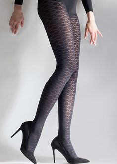 Aristoc Leaf Design Fashion Tights In Stock At UK Tights - summer outfits - Women Style Nylons, Black Pantyhose, Pantyhose Heels, Fashion Tights, Steampunk Fashion, Gothic Fashion, Tights And Boots, Women's Tights, Stockings Lingerie