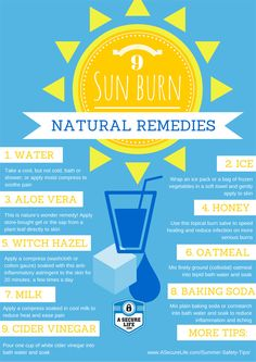 Natural Remedies for a Sun Burn. Keep your family safe this summer! Via @A Secure Life