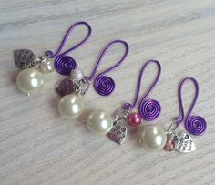 Wedding or Party Favour Wine Glass Charms by EmmylousCraftorium, £3.80