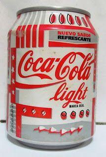 LATAS Y BOTELLAS COLECCIÓN: LATA COCA COLA LIGHT 25 CL , ORIGEN ESPAÑA 1996 Coca Cola Cake, Coca Cola Decor, Coca Cola Bottles, Coke Cans, Coca Cola Light, Always Coca Cola, World Of Coca Cola, Pepsi, Energy Drinks