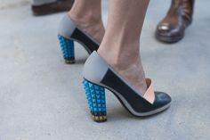 Fendi chunky, spikey heel
