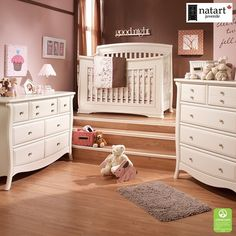 Exquisitely crafted from European Beech Wood, the Bella Collection is sure to bring elegance to your baby's nursery.