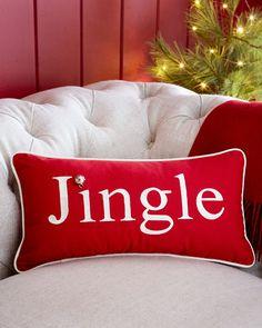 Embroidered Jingle Pillow