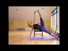 Vasisthasana variation using a chair - YouTube