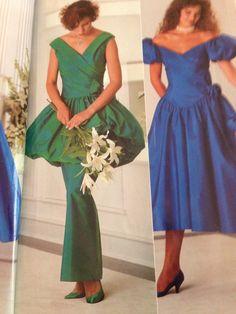 VINTAGE 80'S BRIDESMAID DRESS VINTAGE WEDDING, PARTY, PROM HEN ...