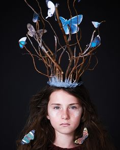 Woodland Butterfly Queen Crown - http://www.sweetpaulmag.com/crafts/woodland-butterfly-queen-crown #sweetpaul