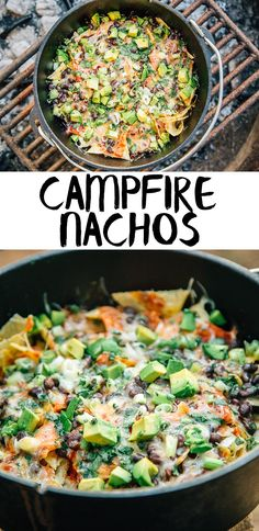 Campfire Nachos made in a Dutch oven is a simple camping meal that everyone will enjoy! Fun, easy camping food at it's best.