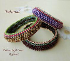 ANACONDA beaded bracelet beading tutorials and von PeyoteBeadArt