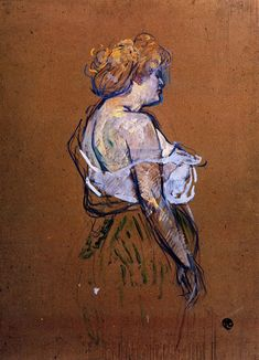 Lucie Bellanger by Henri de Toulouse-Lautrec. Size: Medium: oil on cardboard . Henri De Toulouse Lautrec, Figure Painting, Figure Drawing, Painting & Drawing, Pastel Drawing, Renoir, French Art, Life Drawing, Van Gogh