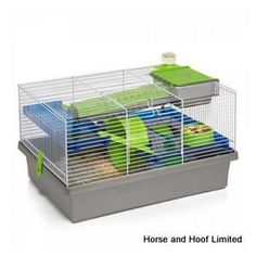 Rosewood Pico Small Animal Cage - Silver Rosewood Pico Silver Hamster Cage is fun and funky for both the…