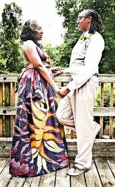 Black Lesbian couple. LGBTQ. Locs. Wedding North Carolina. Who am I kidding?  My wife and I look amazing.  I LIVE for that dress.
