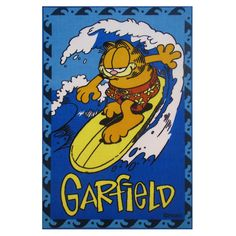 Fun Rugs Garfield Surfing Rug, Blue