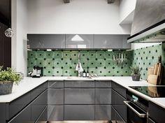 Carrelage vert pour appartement gris - PLANETE DECO a homes world