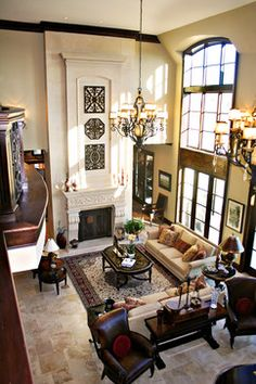 Two Story Living Room Design Ideas, Pictures, Remodel, and Decor - page 3