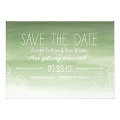 Beautifully printed save the dates that can be customized for your special occasion. Check out the Origami Prints store for wedding invitations, rsvp cards and other products that compliment this design! #wedding #watercolor #ombre #rustic #whimsical #save #the #dates #save #the #date #sage #green #olive