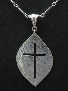 """""""Rugged Cross"""" - a Pierced work in Sterling Silver."""