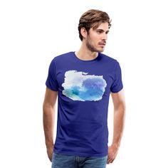 BluejayPhoenix7 | Blue Watercolour - Men's Premium T-Shirt
