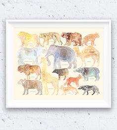 Animal Identification Art Print