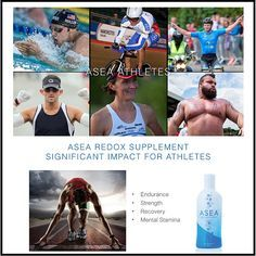 Word is getting out, and athletes everywhere are trying ASEA. They're getting huge results and benefiting from the difference ASEA can make. Get the Facts on why Top Athletes are turning to ASEA by following the link: http://www.athleteedge.com/ When everything else is equal Endurance and Recovery are Everything- ASEA can provide that edge! Contact me and get your edge today, go ahead ... Outperform Yourself ! www.newhealth4u.net
