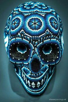 Blue Bead Skull
