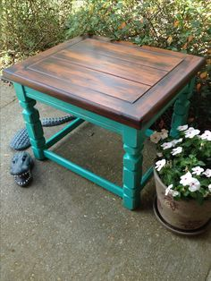 Upcycle thrift shop finds with General Finishes Patina Green milk paint and Java…