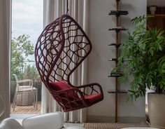 ''SINTA-SE EM CASA'' por Fernando Pinto – Tidelli Hanging Chair, Furniture, Home Decor, Cast Iron, Home, Hammock Chair, Decoration Home, Room Decor, Home Furnishings
