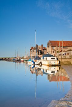 Blakeney, North Norfolk, UK and yes the sky really is that blue. Love this part of the UK