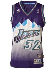 4cb9344e8 adidas Men s Karl Malone Utah Jazz Swingman Jersey - Purple XXL Karl Malone