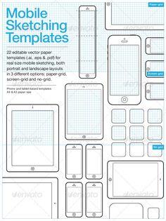 Mobile Sketching & Wireframing Templates