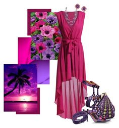 """Pink and Purple"" by dragunceol ❤ liked on Polyvore featuring Martha Stewart, Alberta Ferretti, Swarovski, Jones New York, Miadora and mashy"